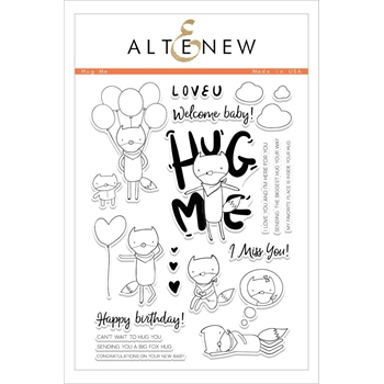 Altenew HUG ME Clear Stamp Set ALT1605