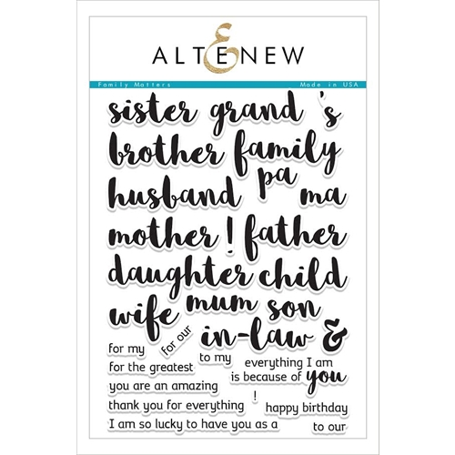 Altenew FAMILY MATTERS Clear Stamp Set ALT1600 Preview Image