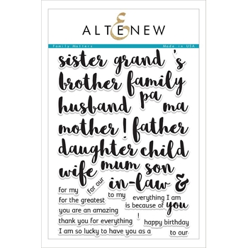 Altenew FAMILY MATTERS Clear Stamp Set ALT1600