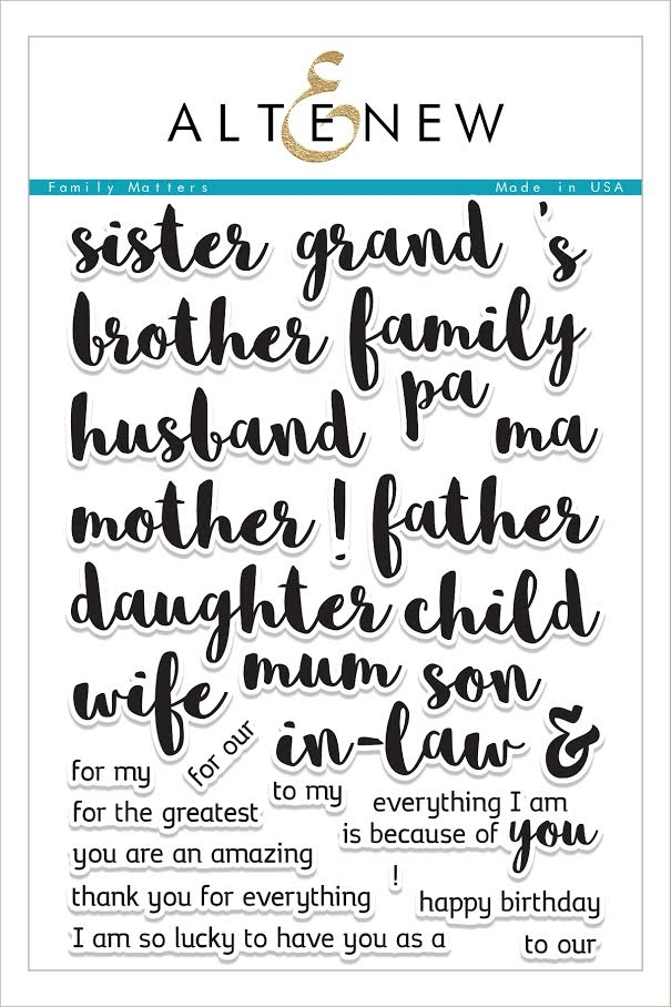 Altenew FAMILY MATTERS Clear Stamp Set ALT1600 zoom image
