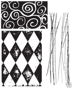 Tim Holtz Cling Rubber Stamps CREATIVE TEXTURES Stampers Anonymous cms004