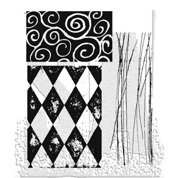 Tim Holtz Cling Rubber Stamps CREATIVE TEXTURES cms004