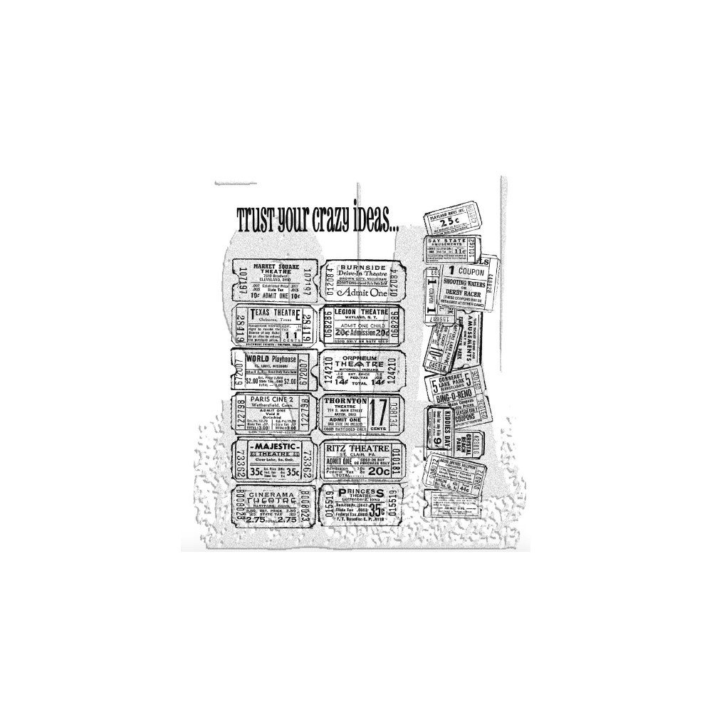 Tim Holtz Cling Rubber Stamps ADMIT ONE SET CMS003 zoom image