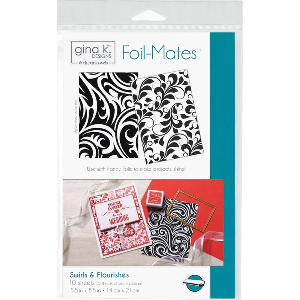 Therm O Web Gina K Designs SWIRLS AND FLOURISHES Foil-Mates Sheets 18020 zoom image