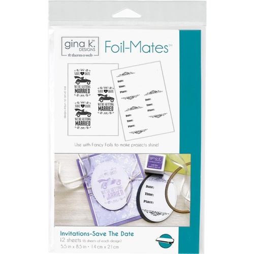 Therm O Web Gina K Designs INVITATIONS SAVE THE DATE Foil-Mates Sheets 18027* Preview Image