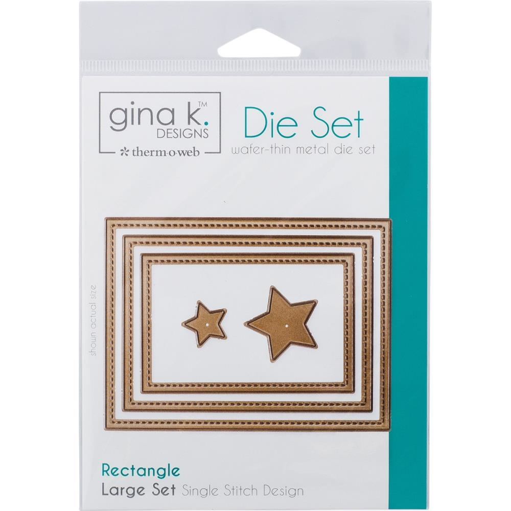 Therm O Web Gina K Designs SINGLE STICH RECTANGLE LARGE Set Nested Dies 18012* zoom image