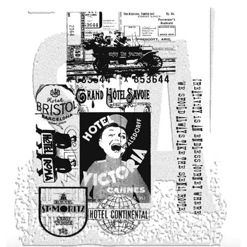 Tim Holtz Cling Rubber Stamps THE JOURNEY SET cms021  Preview Image