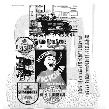 Tim Holtz Cling Rubber Stamps THE JOURNEY SET cms021