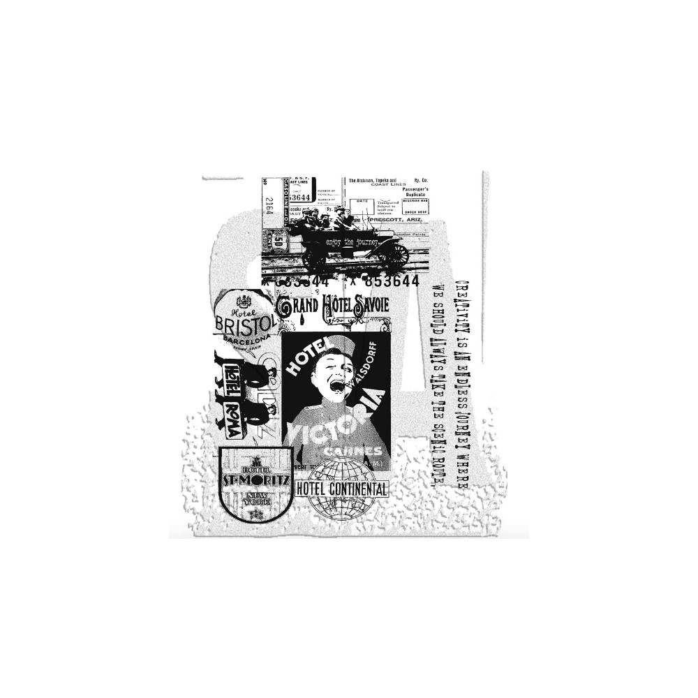 Tim Holtz Cling Rubber Stamps THE JOURNEY SET cms021  zoom image