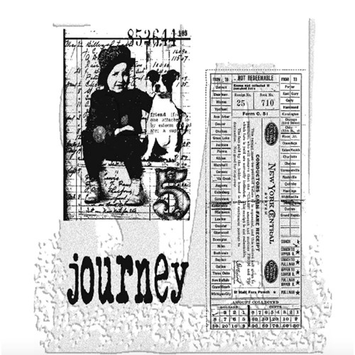Tim Holtz Cling Rubber Stamps TRAVELING FRIENDS cms022 Preview Image