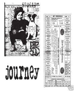 Tim Holtz Cling Rubber Stamps TRAVELING FRIENDS cms022 Stampers Anonymous zoom image