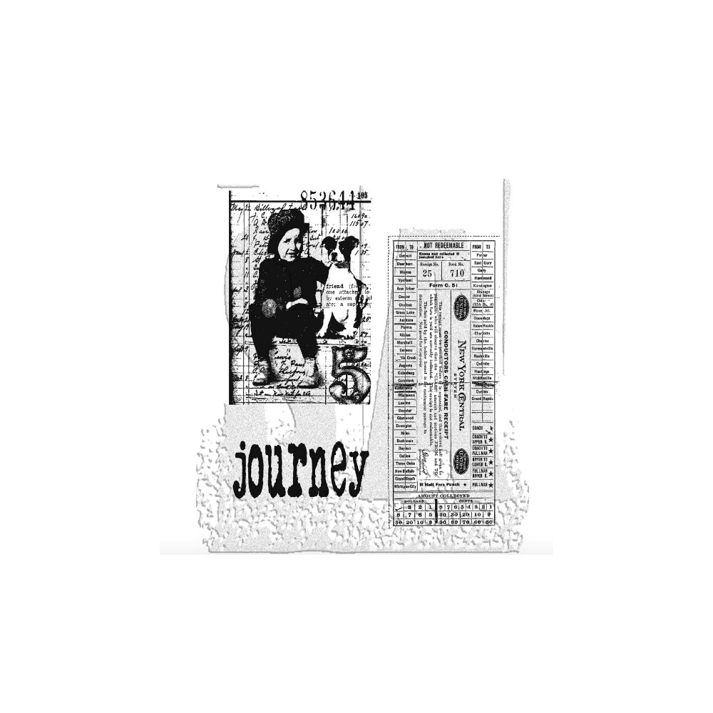 Tim Holtz Cling Rubber Stamps TRAVELING FRIENDS cms022 zoom image