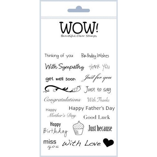 WOW Stamps for Embossing EVERYDAY SENTIMENTS Clear Stamp Set STAMPSET17 * Preview Image
