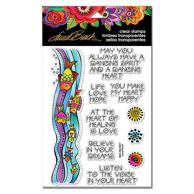 Stampendous Clear Stamps FISH WISHES Laurel Burch SSCL104 zoom image