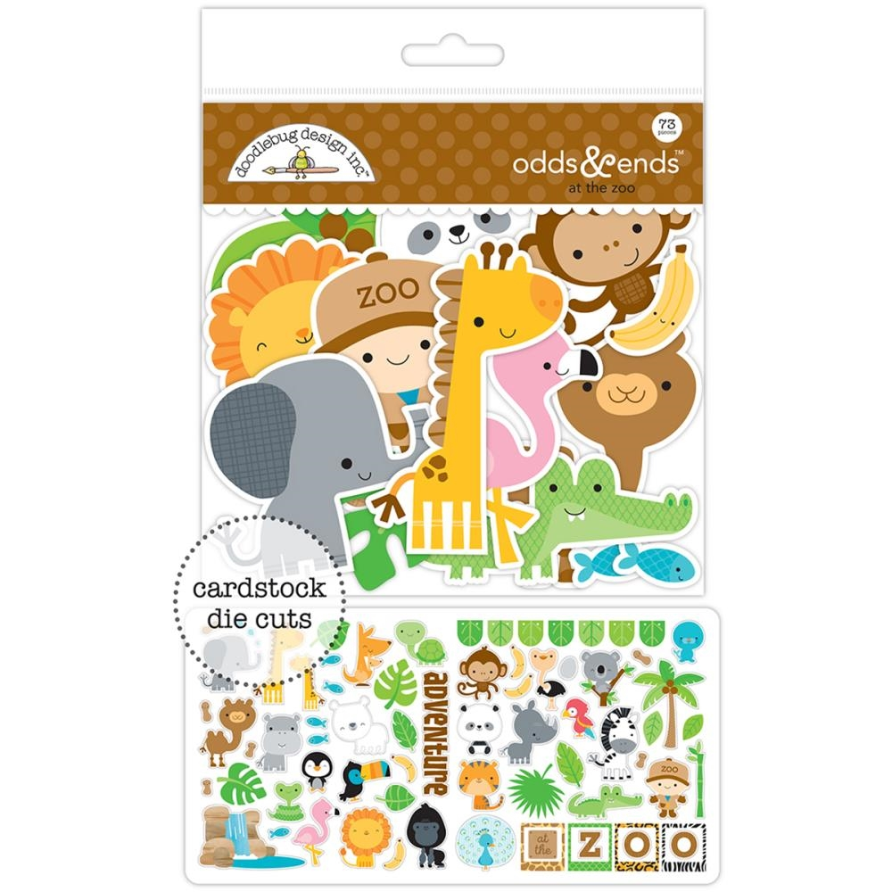 Doodlebug AT THE ZOO Odds and Ends Die Cuts 5600 zoom image