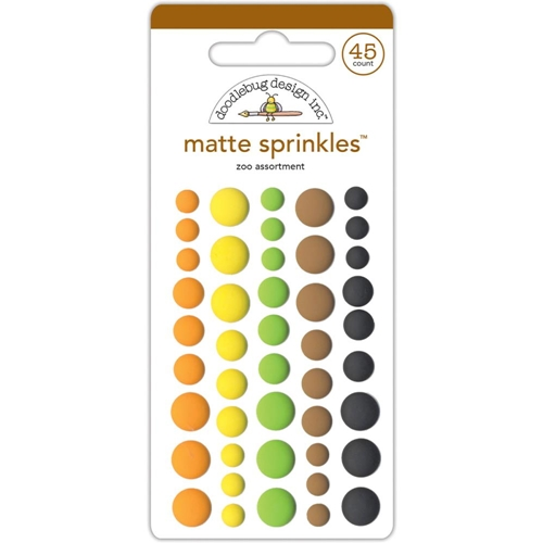 Doodlebug ZOO Matte Sprinkles Adhesive Enamel Dots At The Zoo 5546 Preview Image