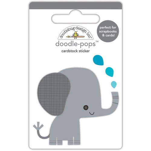 Doodlebug EDDIE THE ELEPHANT Doodle Pops 3D Stickers At The Zoo 5586 Preview Image