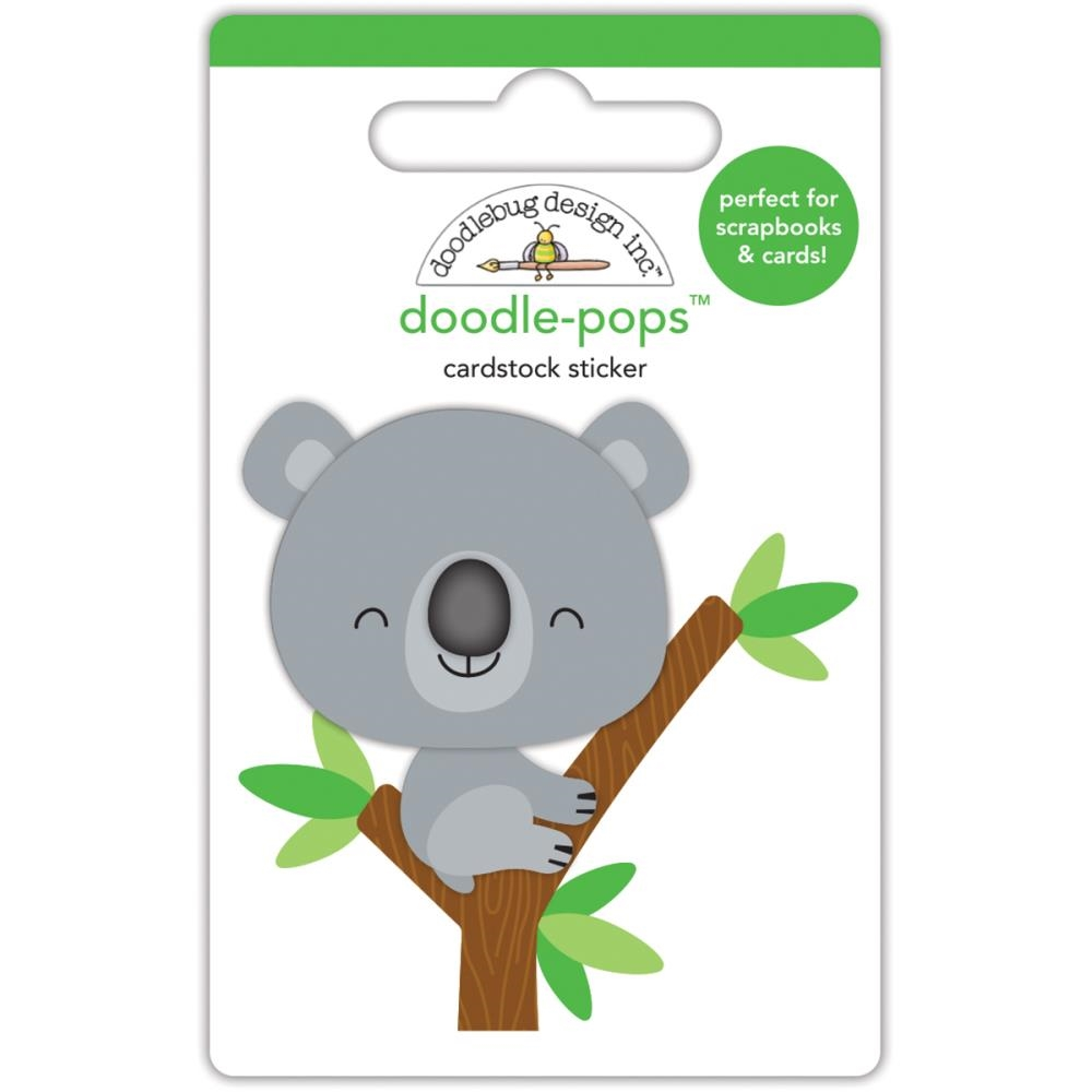 Doodlebug KC THE KOALA Doodle Pops 3D Sticker At The Zoo 5589 zoom image