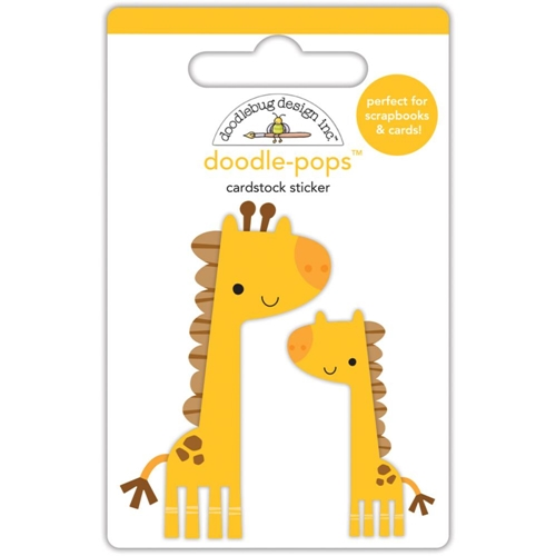 Doodlebug JENNY AND JOJO GIRAFFE Doodle Pops 3D Stickers At The Zoo 5587 Preview Image