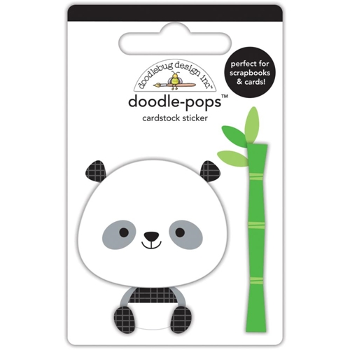 Doodlebug POLLY THE PANDA Doodle Pops 3D Stickers At The Zoo 5588 Preview Image
