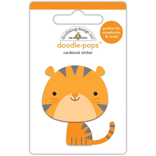 Doodlebug TOMMY THE TIGER Doodle Pops 3D Sticker At The Zoo 5540 Preview Image