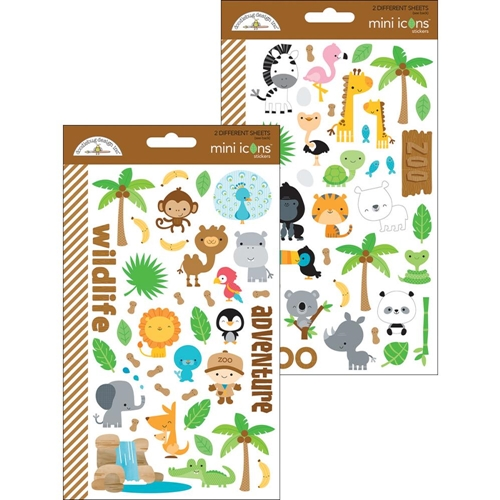 Doodlebug AT THE ZOO Mini Icons Sticker Sheets 5712 Preview Image