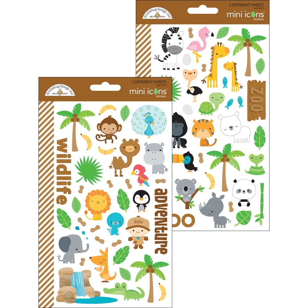 Doodlebug AT THE ZOO Mini Icons Sticker Sheets 5712 zoom image