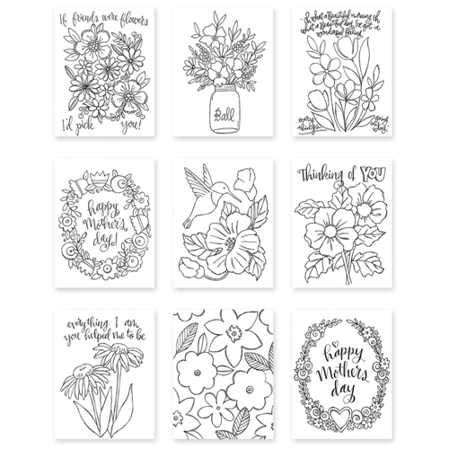 Simon Says Stamp Suzy's MOTHERS AND FLOWERS Watercolor Prints SZMF17 Mothers Fathers Florals Preview Image