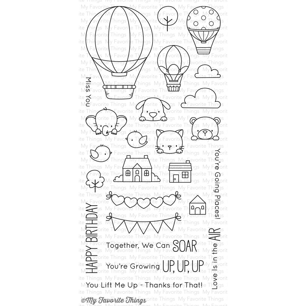 My Favorite Things UP IN THE AIR Clear Stamps BB44 zoom image