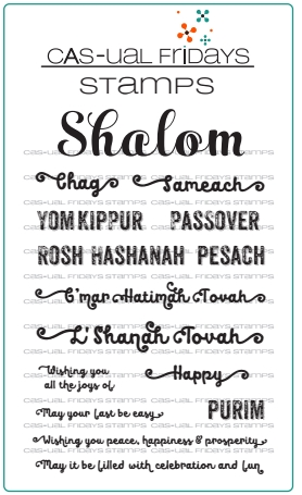 CAS-ual Fridays SHALOM Clear Stamps CFS1713 Preview Image