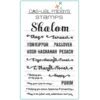 CAS-ual Fridays SHALOM Clear Stamps CFS1713