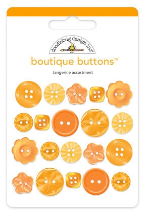 Doodlebug TANGERINE Boutique Buttons 2476* Preview Image