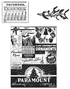 Tim Holtz Cling Rubber Stamps HOLIDAYS PAST cms030 *