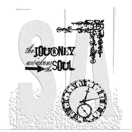 Tim Holtz Cling Rubber Stamps SOULFUL JOURNEY CMS029 Preview Image