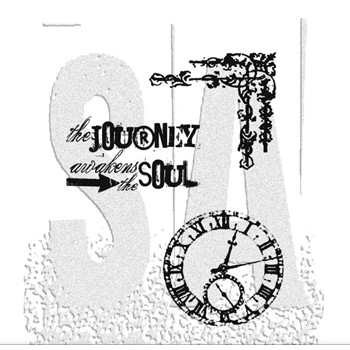 Tim Holtz Cling Rubber Stamps SOULFUL JOURNEY CMS029