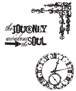 Tim Holtz Cling Rubber Stamps SOULFUL JOURNEY CMS029* zoom image