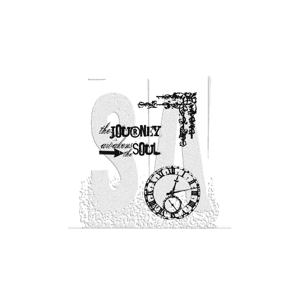 Tim Holtz Cling Rubber Stamps SOULFUL JOURNEY CMS029 zoom image