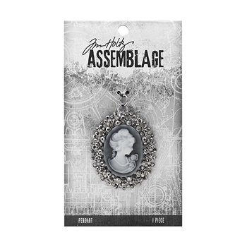 Tim Holtz Assemblage CRYSTAL CAMEO PENDANT THA20074