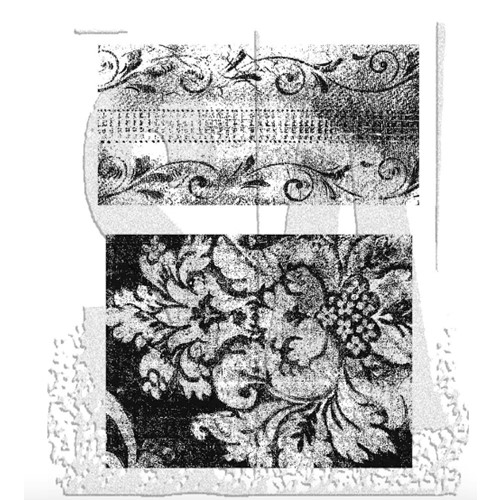 Tim Holtz Cling Rubber Stamps WEATHERED TEXTILES CMS023 Preview Image