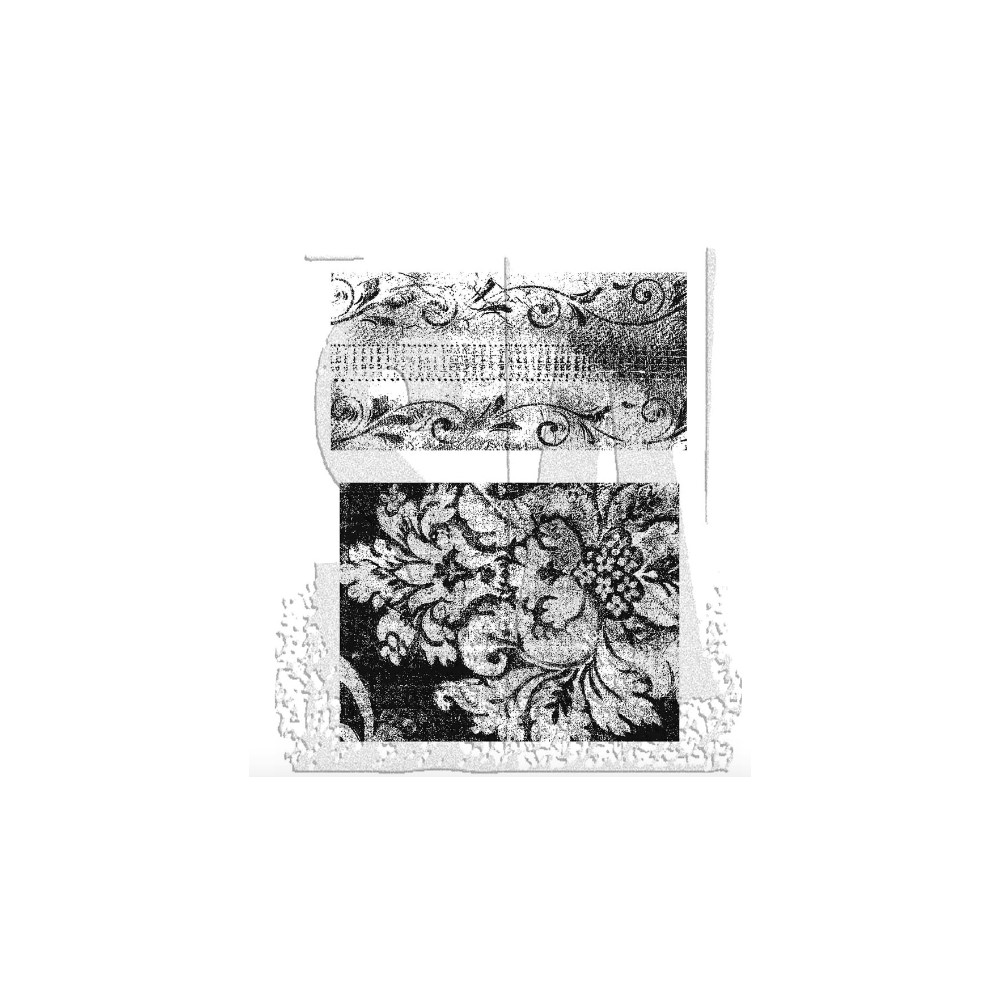 Tim Holtz Cling Rubber Stamps WEATHERED TEXTILES CMS023 zoom image