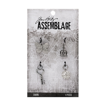 Tim Holtz Assemblage PACK OF 4 MONARCH CHARMS THA20040