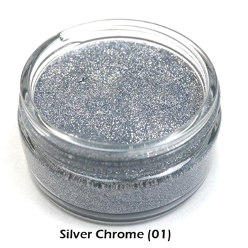 Cosmic Shimmer SILVER CHROME Glitter Kiss Polish 913329*