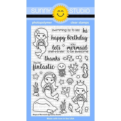Sunny Studio MAGICAL MERMAIDS Clear Stamp Set SSCL 157 Preview Image