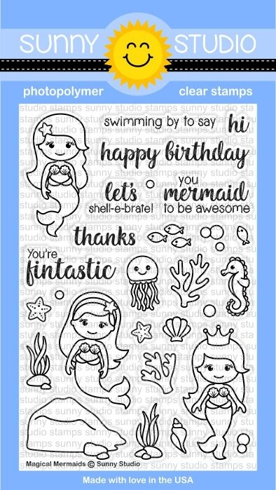 Sunny Studio MAGICAL MERMAIDS Clear Stamp Set SSCL 157 zoom image