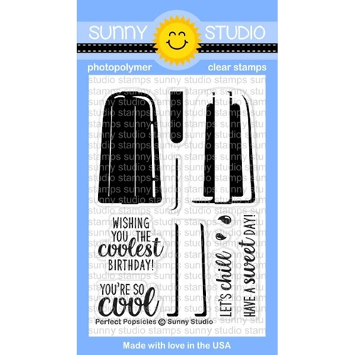 Sunny Studio PERFECT POPSICLES Clear Stamp Set SSCL-162 Preview Image