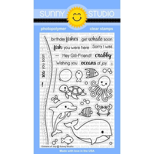 Sunny Studio OCEANS OF JOY Clear Stamp Set SSCL-158 Preview Image