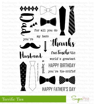 Sugar Pea Design Terrific Ties Stamps