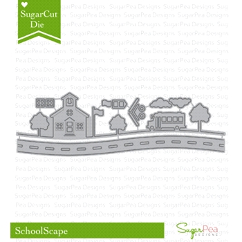 SugarPea Designs SCHOOLSCAPE SugarCuts Dies SPD00200