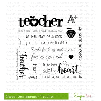 SugarPea Designs SWEET SENTIMENTS TEACHER Clear Stamp Set SPD00202