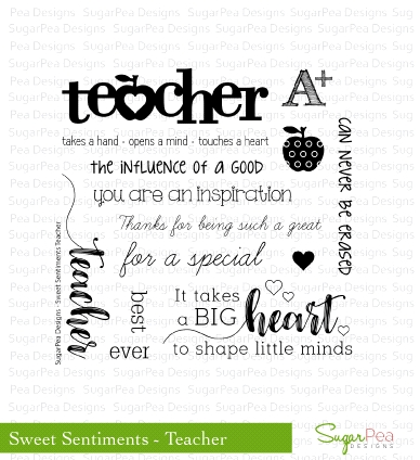 SugarPea Designs SWEET SENTIMENTS TEACHER Clear Stamp Set SPD00202* zoom image